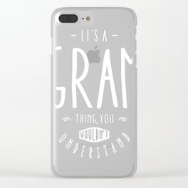 Gram-Thing Clear iPhone Case