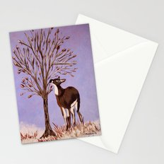 Deer by the tree Stationery Cards