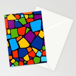 Colorful Vintage Mosaic Abstract Stationery Cards