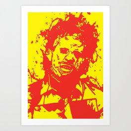 August 18, 1973: Bloodstain Leatherface (color combination M) Art Print