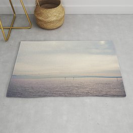 sunset along Lake Constance in Germany ... Rug