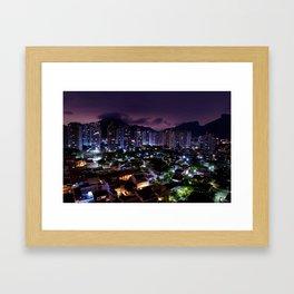 Purple Rio Framed Art Print