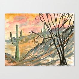Southwestern Art Desert Painting Canvas Print