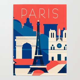 Abstract Paris Poster