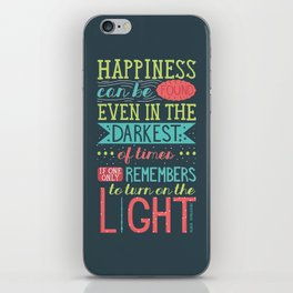 Happiness iPhone Skin