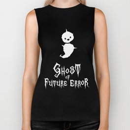 Programmer Ghost of Future (Semicolon) Error [white] Biker Tank