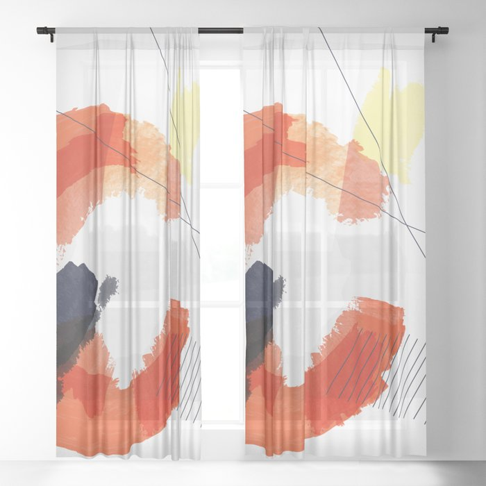 Nucleus Series – 3 of 3 Sheer Curtain