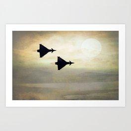 Euro Fighters Art Print