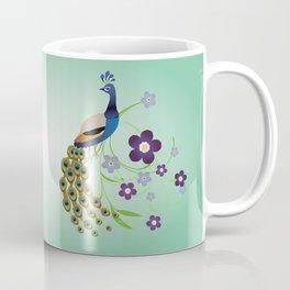 Peacock with flowers Coffee Mug