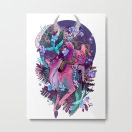 Majestic Midnight Pink Whitetail Doe Metal Print