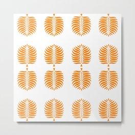 TROPICAL PALMS . TANGERINE Metal Print
