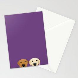 Tan Lab & Yellow Lab Stationery Cards