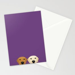 Tan Lab & Yellow Lab Stationery Cards