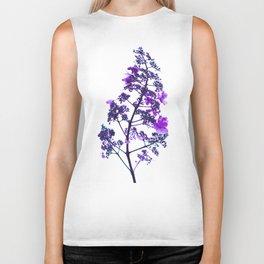 Flowery Stem-purple Biker Tank