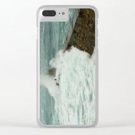 Sennen cove breakwater Clear iPhone Case