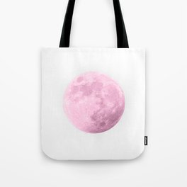 COTTON CANDY PINK MOON Tote Bag