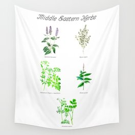 Middle Eastern Herbs Wall Tapestry