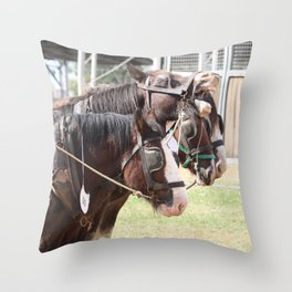 Clydesdales - Let's Go Throw Pillow