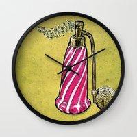 perfume Wall Clocks featuring Perfume by MR VELA