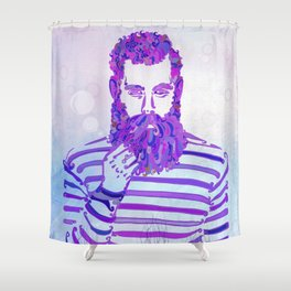 Sea Wolf Ghost Shower Curtain
