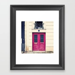 Paris Purple Door and Balcony Framed Art Print