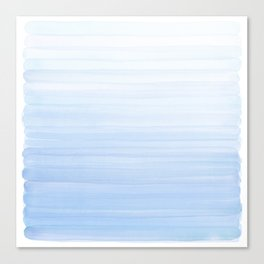 Pastel Blue Strokes Canvas Print