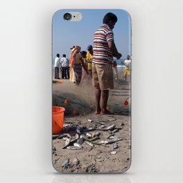 Fishermen Sorting the Catch Arambol iPhone Skin