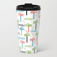 summer tropical shapes modern minimal abstract pattern trendy gifts Metal Travel Mug