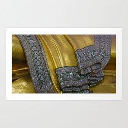 Robes of the Reclining Buddha Art Print