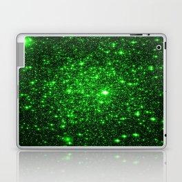 gAlAXy Green Sparkle Stars Laptop & iPad Skin