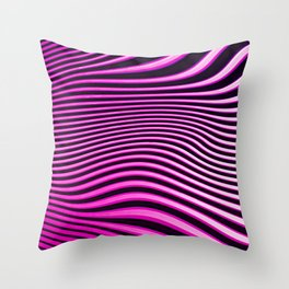 Stripes in Pink Throw Pillow