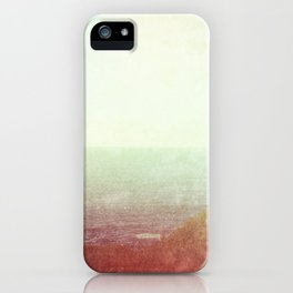 Abstract pastel mint green pink red summer nature landscape iPhone Case