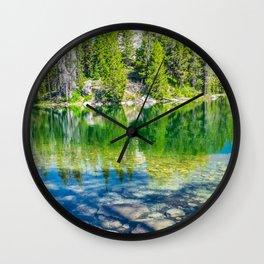 Jenny Lake Reflection Mountains Print Wall Clock
