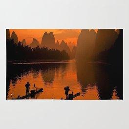 Li River in Guilin China Rug