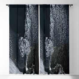 Black and White Acrylic Swipe Abstract Blackout Curtain