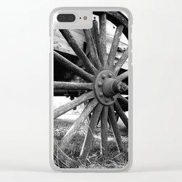 Wagon Wheel #4 Clear iPhone Case