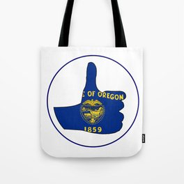 Thumbs Up Oregon Tote Bag