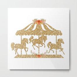 Glitter Carousel Metal Print