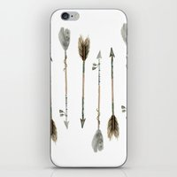 craftberrybush iPhone & iPod Skins featuring Watercolor fall arrows  by craftberrybush