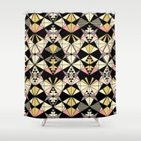 kaleidoscope Shower Curtains featuring Kaleidoscope by Kimsa
