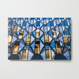 Geometric Glass  Metal Print