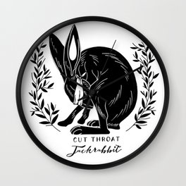The Blind Jack Rabbit Wall Clock