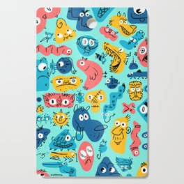 Colorful Character Shapes Cutting Board