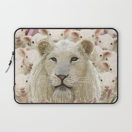Lambs led by a lion Laptop Sleeve