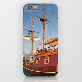 Pirate ship cruise at the port of Lefkada, Greece iPhone Case