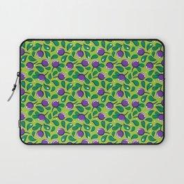 Blueberry pattern (on green background) Laptop Sleeve