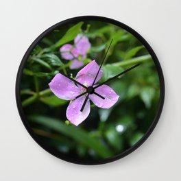 Little Purple Flower, Hawaii Wall Clock