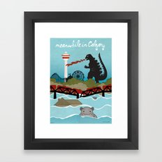 YYCFlood Framed Art Print