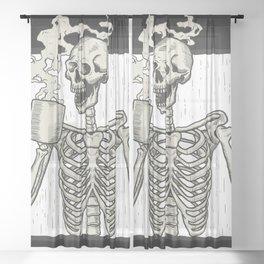 Coffee Sheer Curtain