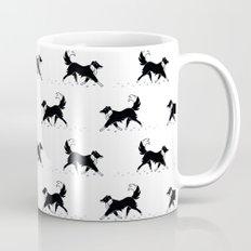 Casper in the snow / Border Collie  Coffee Mug
